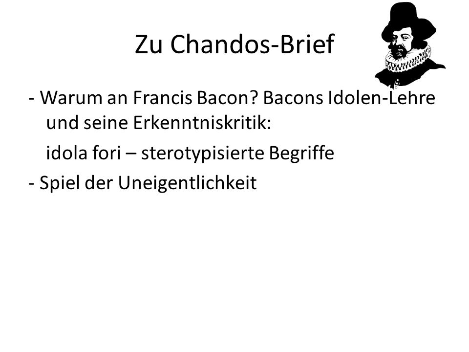 Zu Chandos-Brief