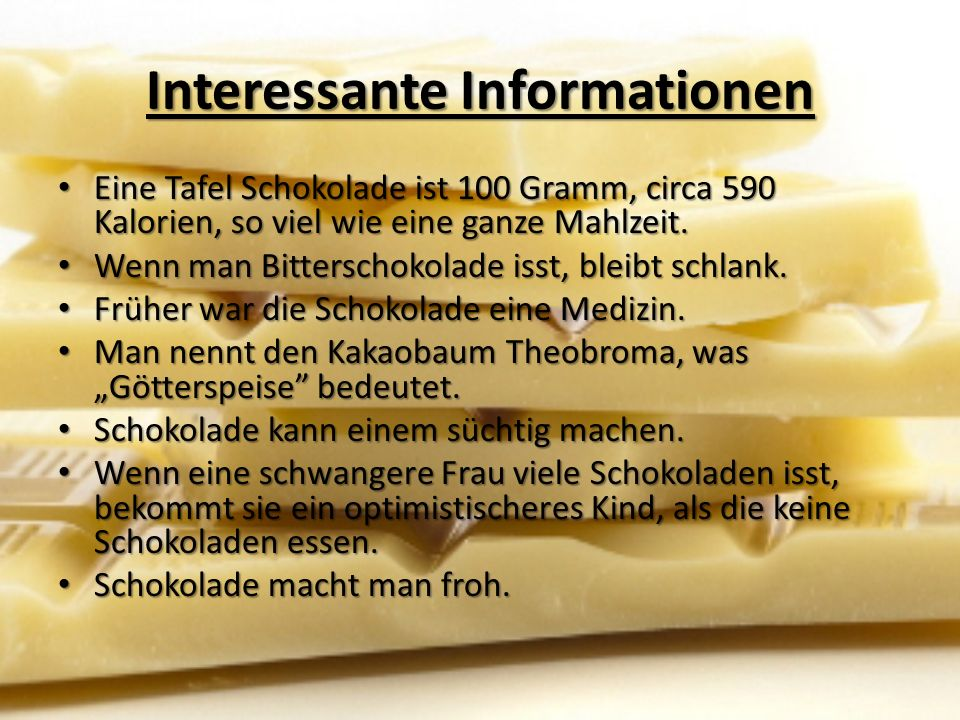 Interessante Informationen