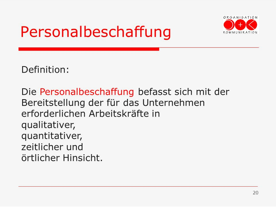 Personalbeschaffung Definition: