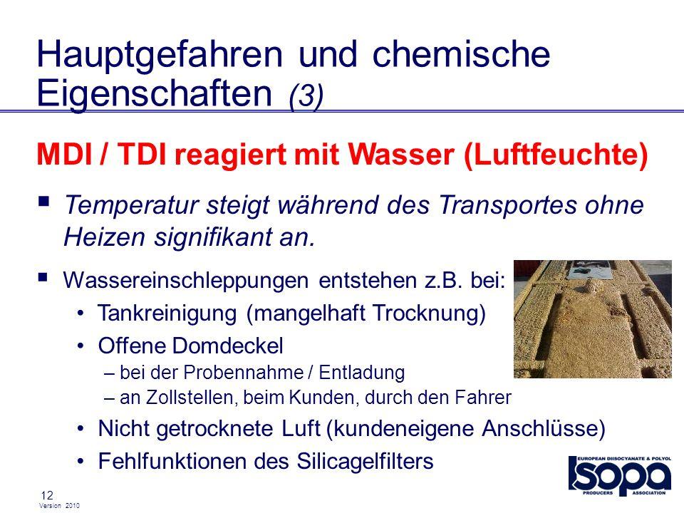 Hauptgefahren und chemische Eigenschaften (3)