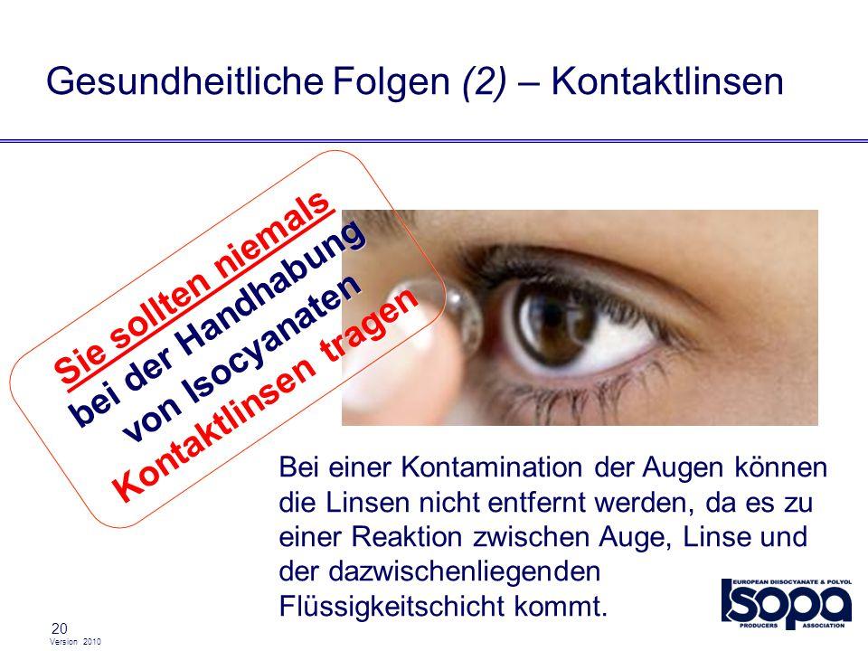 Gesundheitliche Folgen (2) – Kontaktlinsen
