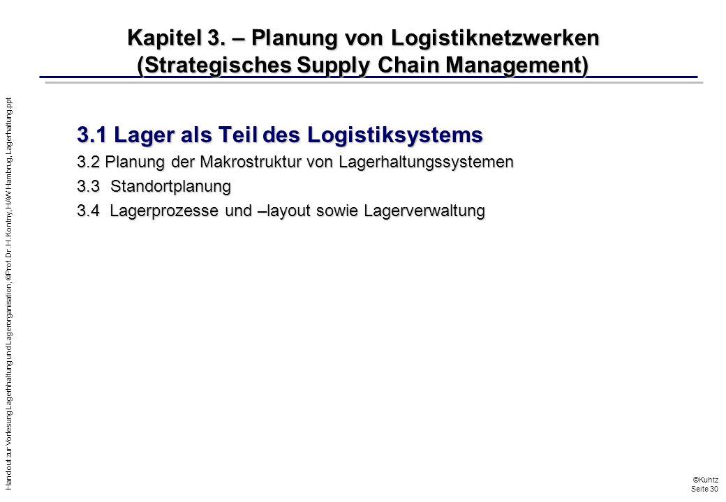 3.1 Lager als Teil des Logistiksystems