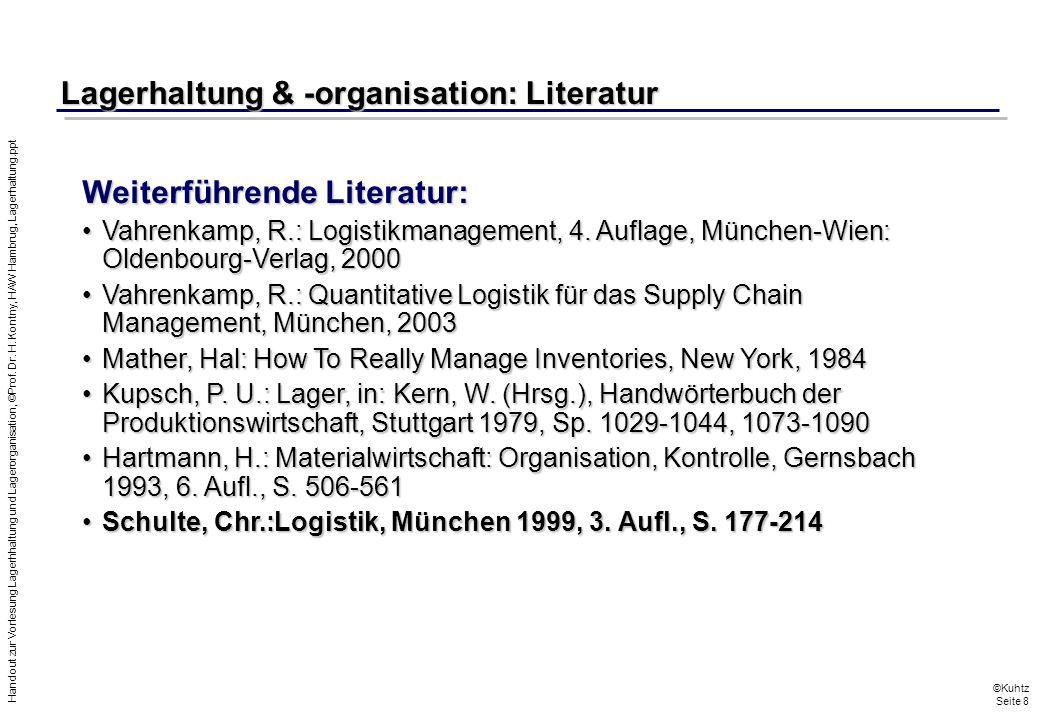 Lagerhaltung & -organisation: Literatur