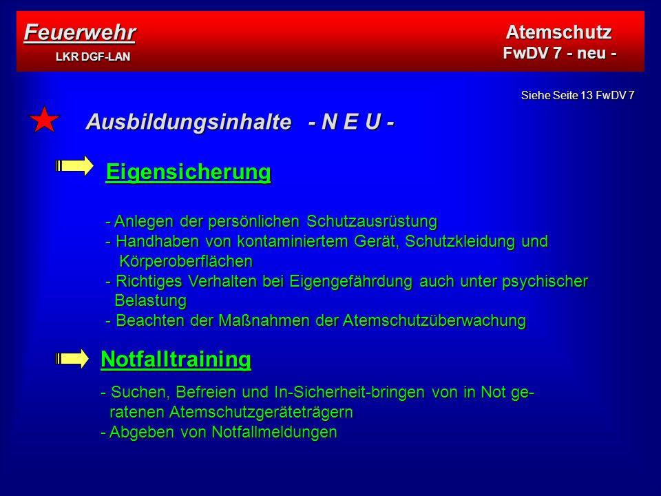 Ausbildungsinhalte - N E U -