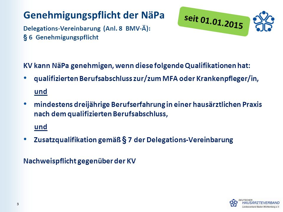 Genehmigungspflicht der NäPa