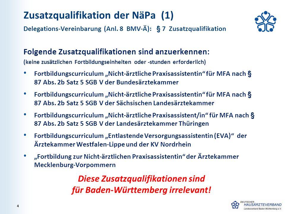 Zusatzqualifikation der NäPa (1)