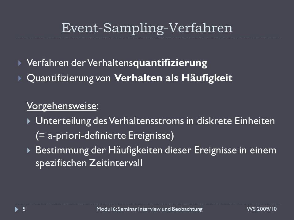 Event-Sampling-Verfahren