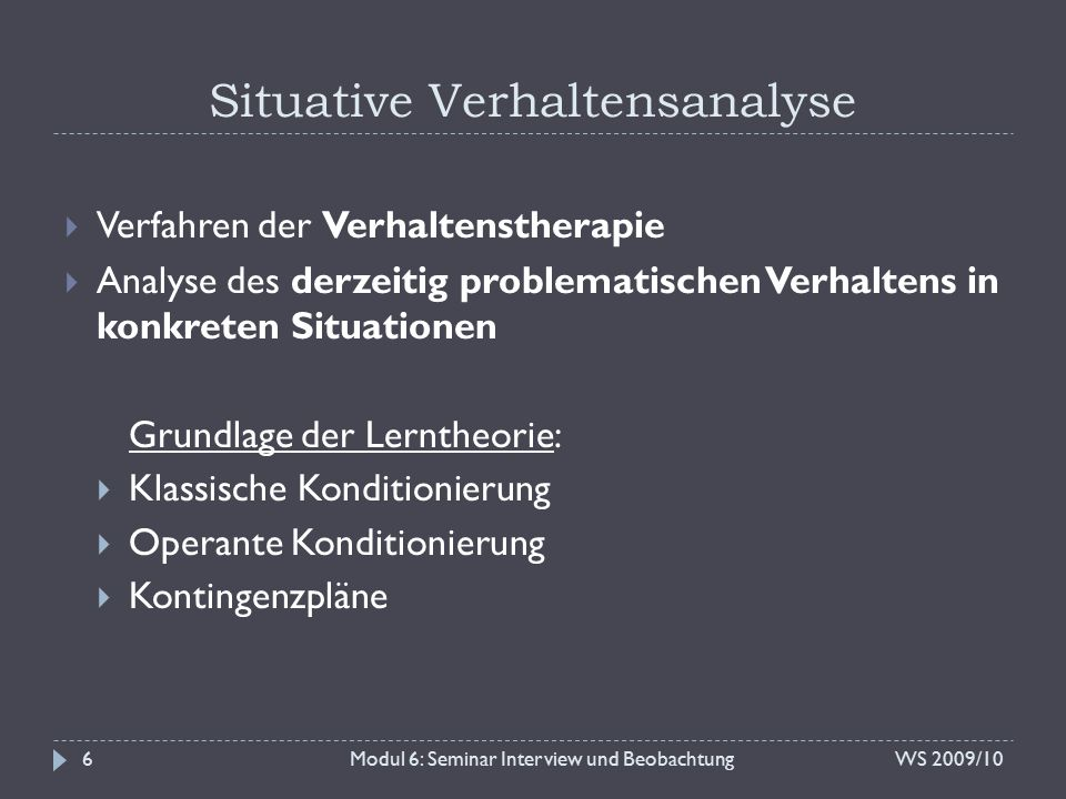 Situative Verhaltensanalyse