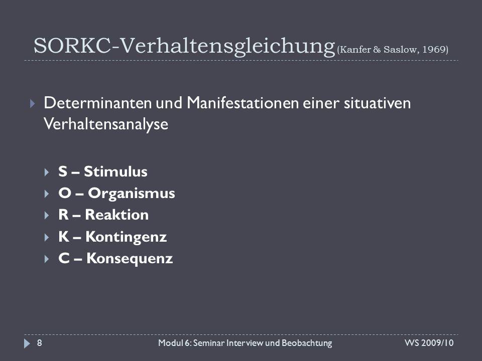 SORKC-Verhaltensgleichung (Kanfer & Saslow, 1969)