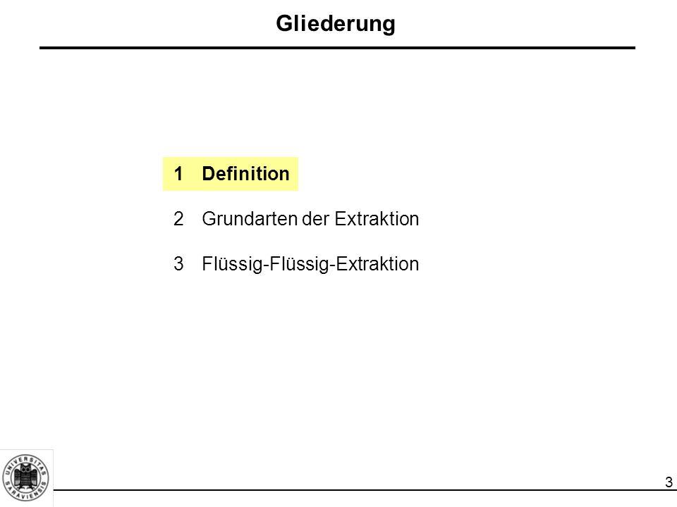 Gliederung 1 Definition 2 Grundarten der Extraktion