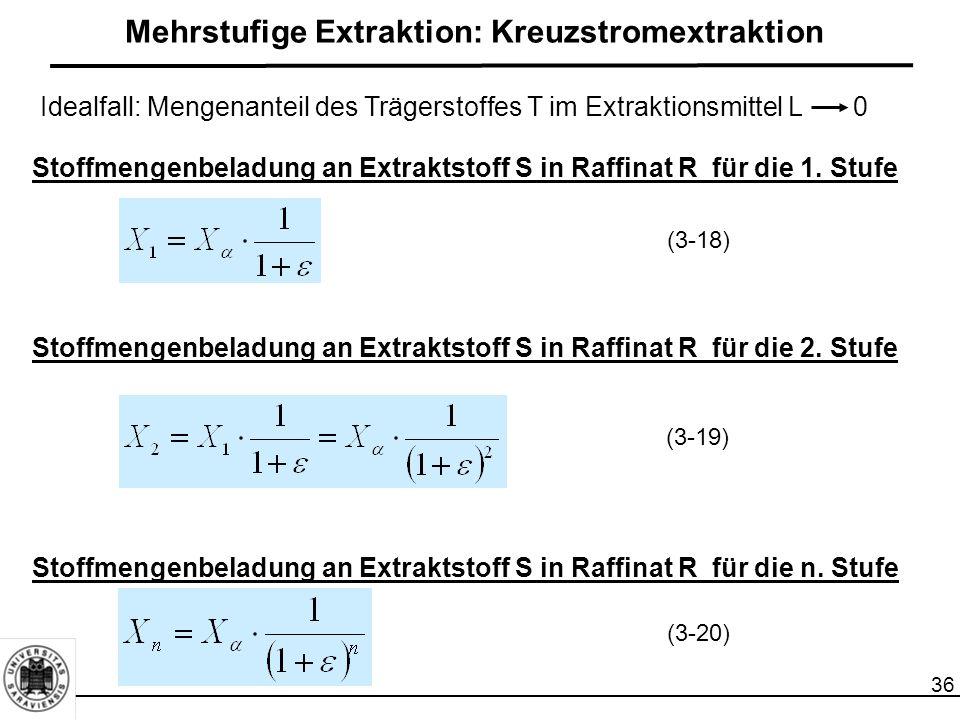Mehrstufige Extraktion: Kreuzstromextraktion