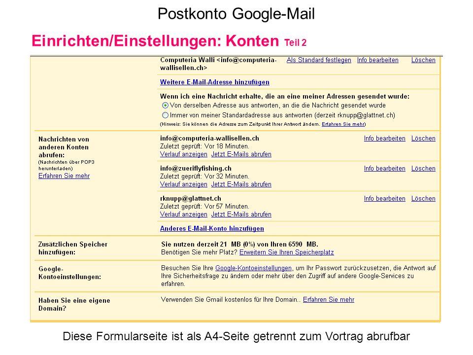 Postkonto Google-Mail