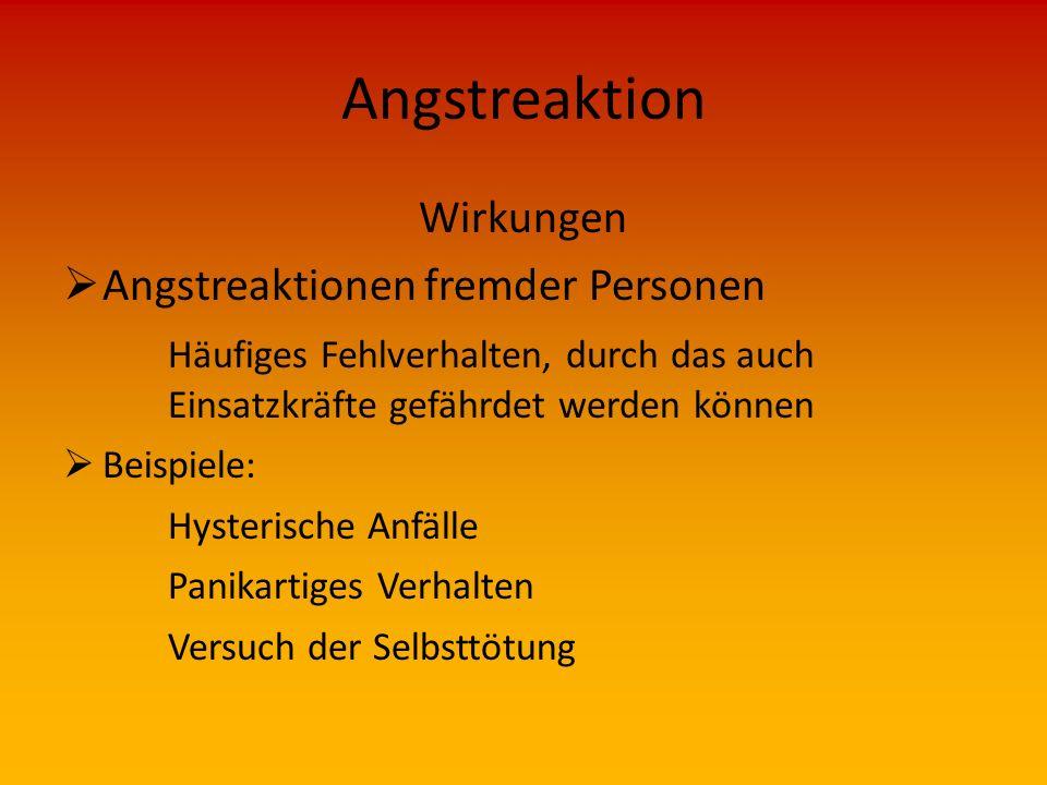 Angstreaktion Wirkungen Angstreaktionen fremder Personen