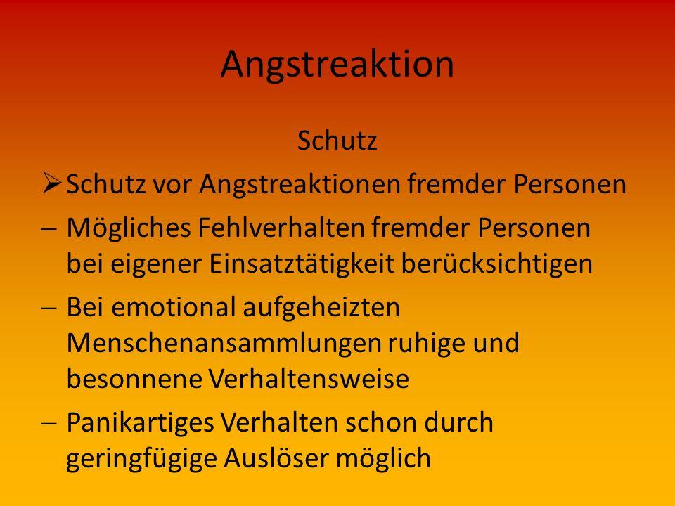 Angstreaktion Schutz Schutz vor Angstreaktionen fremder Personen