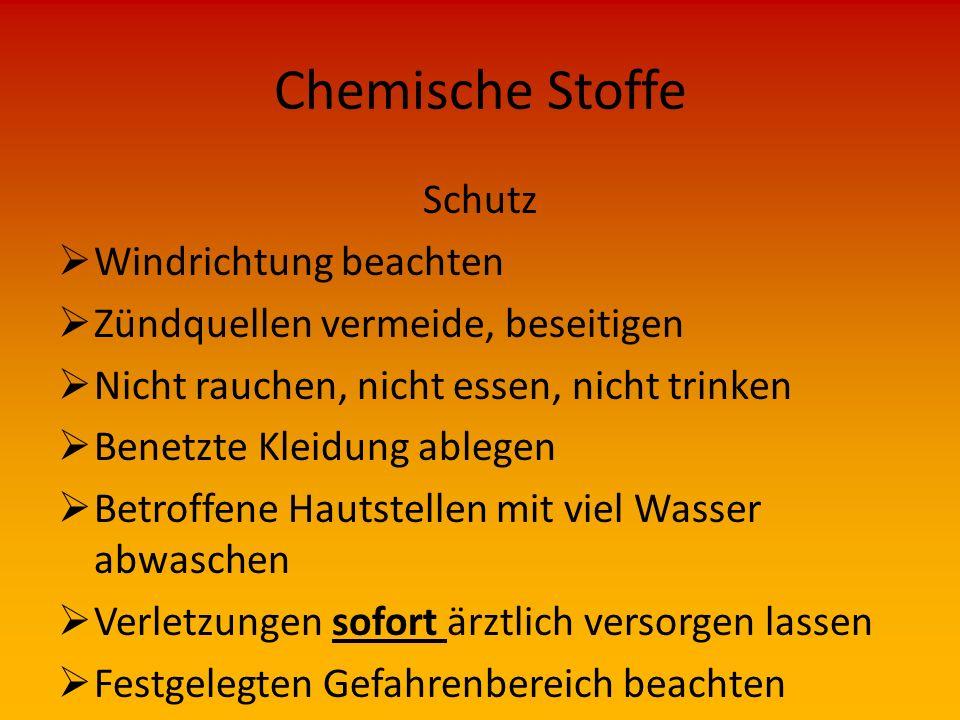 Chemische Stoffe Schutz Windrichtung beachten
