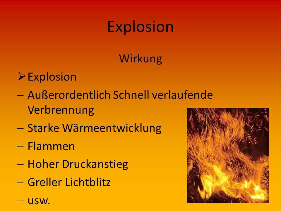Explosion Wirkung Explosion