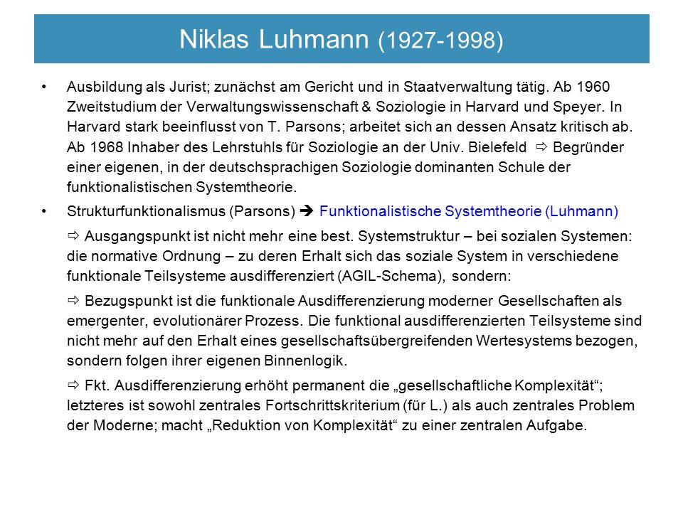 Niklas Luhmann (1927-1998)