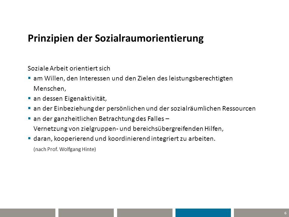 Prinzipien der Sozialraumorientierung
