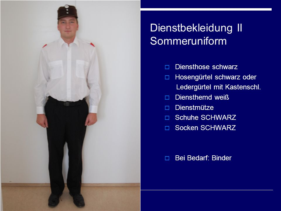 Dienstbekleidung II Sommeruniform