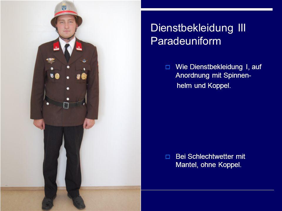 Dienstbekleidung III Paradeuniform