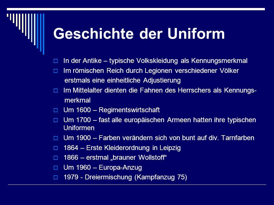 Geschichte der Uniform