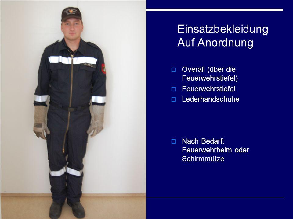 Einsatzbekleidung Auf Anordnung