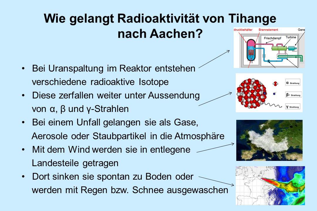 Wie gelangt Radioaktivität von Tihange nach Aachen