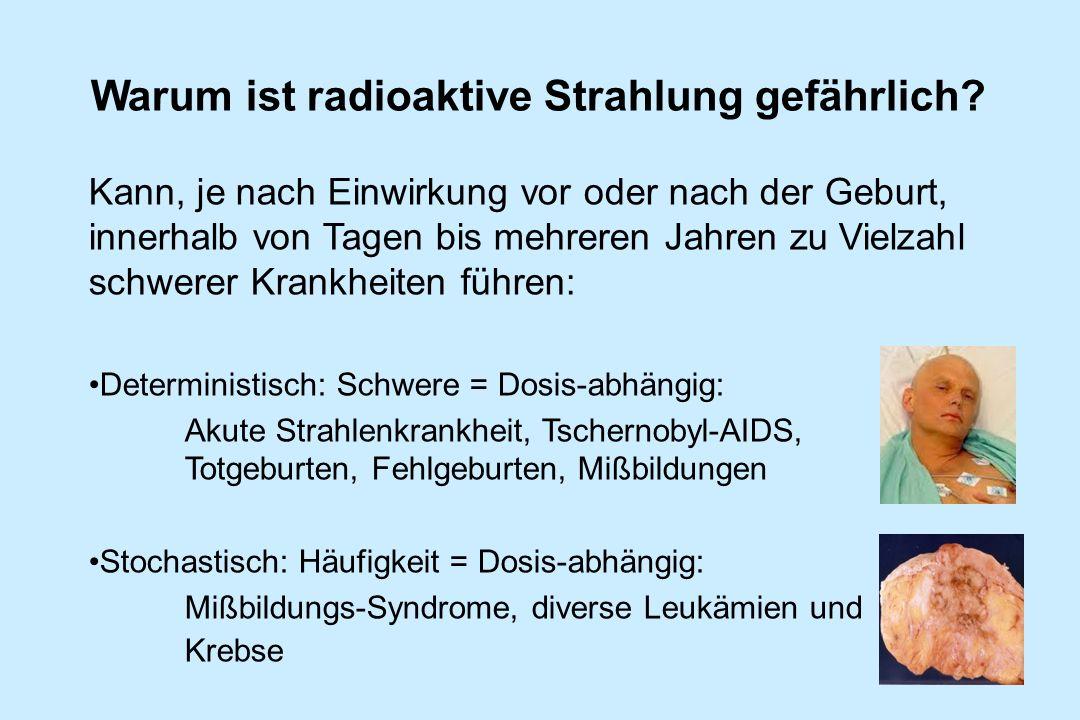 Warum ist radioaktive Strahlung gefährlich