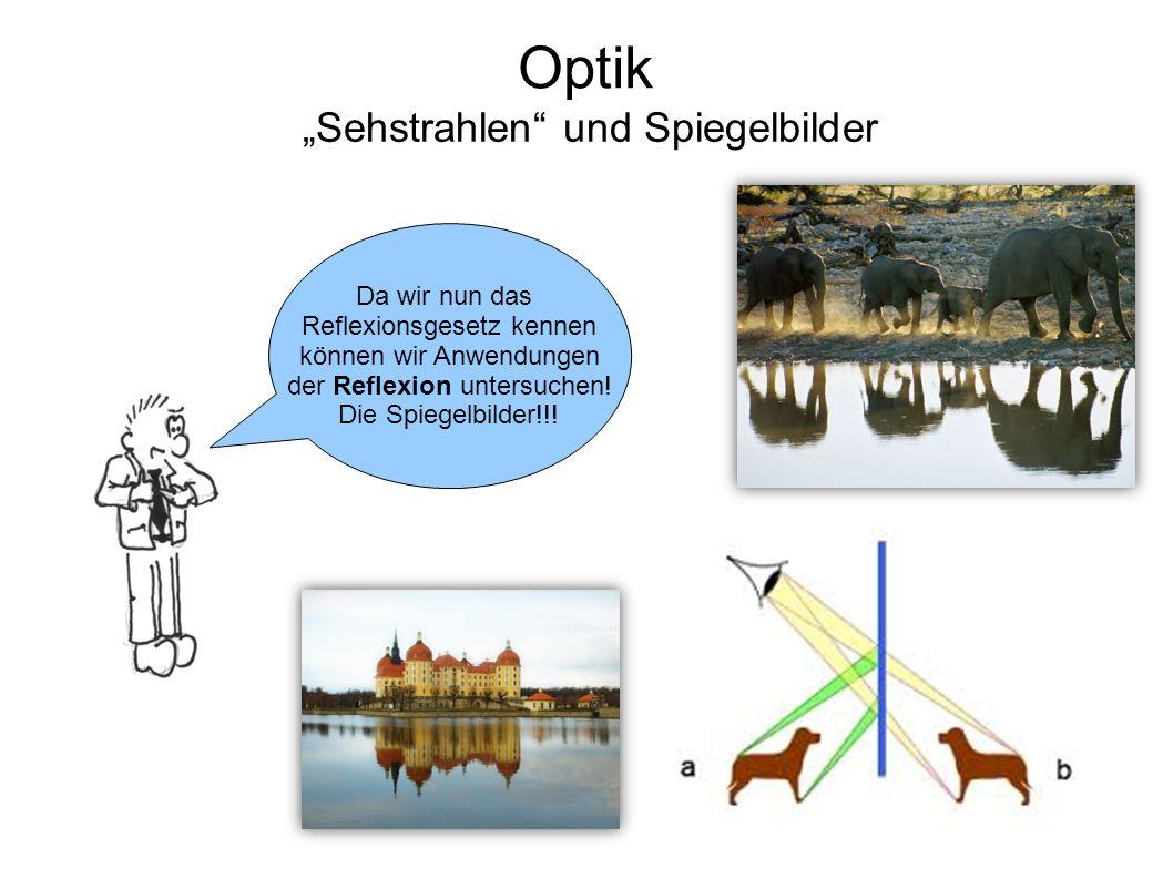 """""""Sehstrahlen und Spiegelbilder"""
