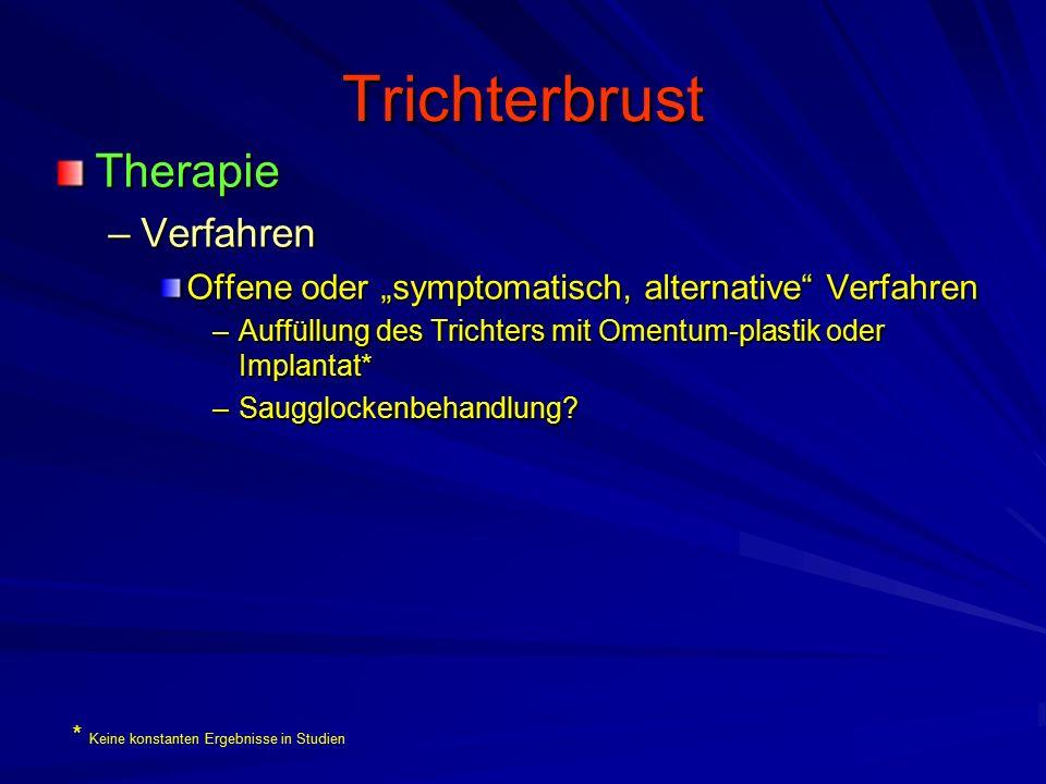 Trichterbrust Therapie Verfahren