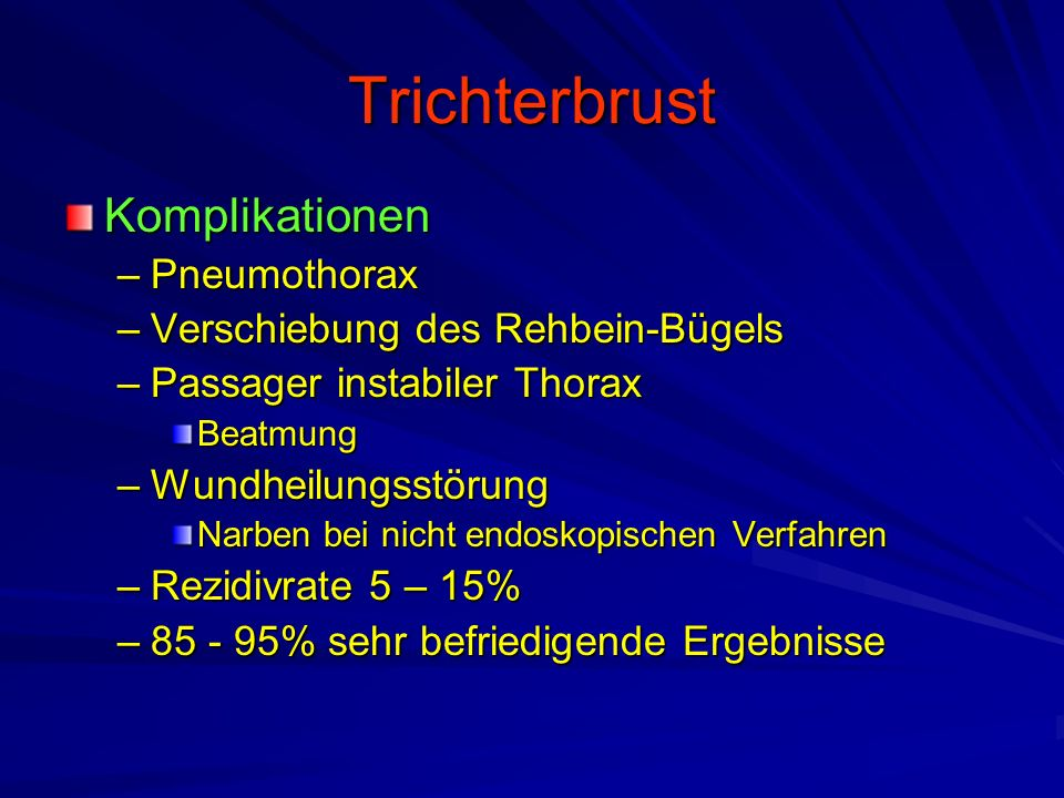 Trichterbrust Komplikationen Pneumothorax