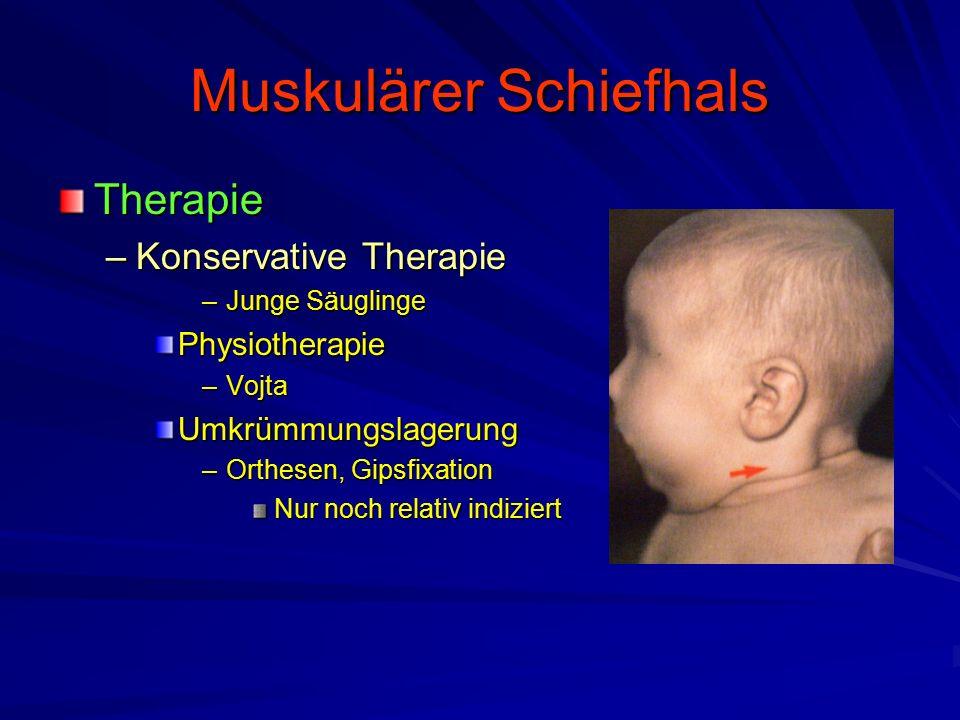 Muskulärer Schiefhals