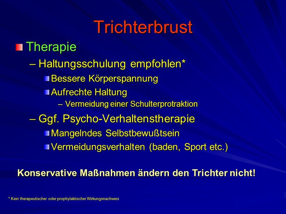 Trichterbrust Therapie Haltungsschulung empfohlen*