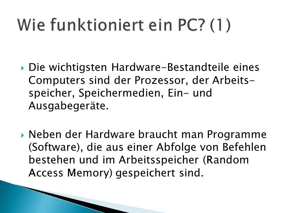 Wie funktioniert ein PC (1)