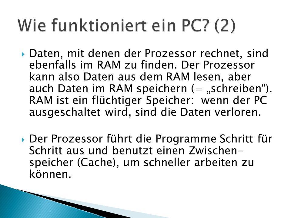 Wie funktioniert ein PC (2)
