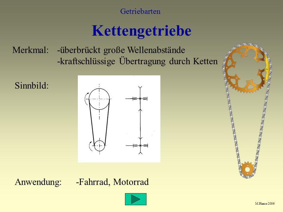 Kettengetriebe Merkmal:
