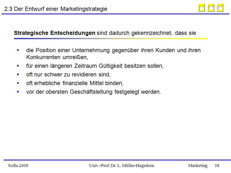 2.3 Der Entwurf einer Marketingstrategie