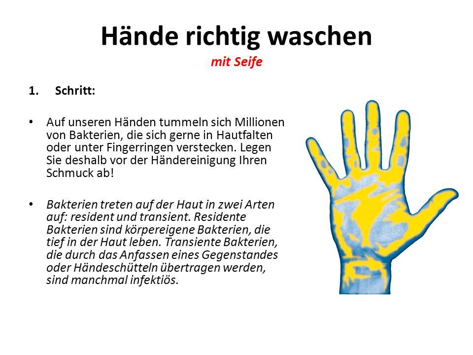 Hände richtig waschen mit Seife