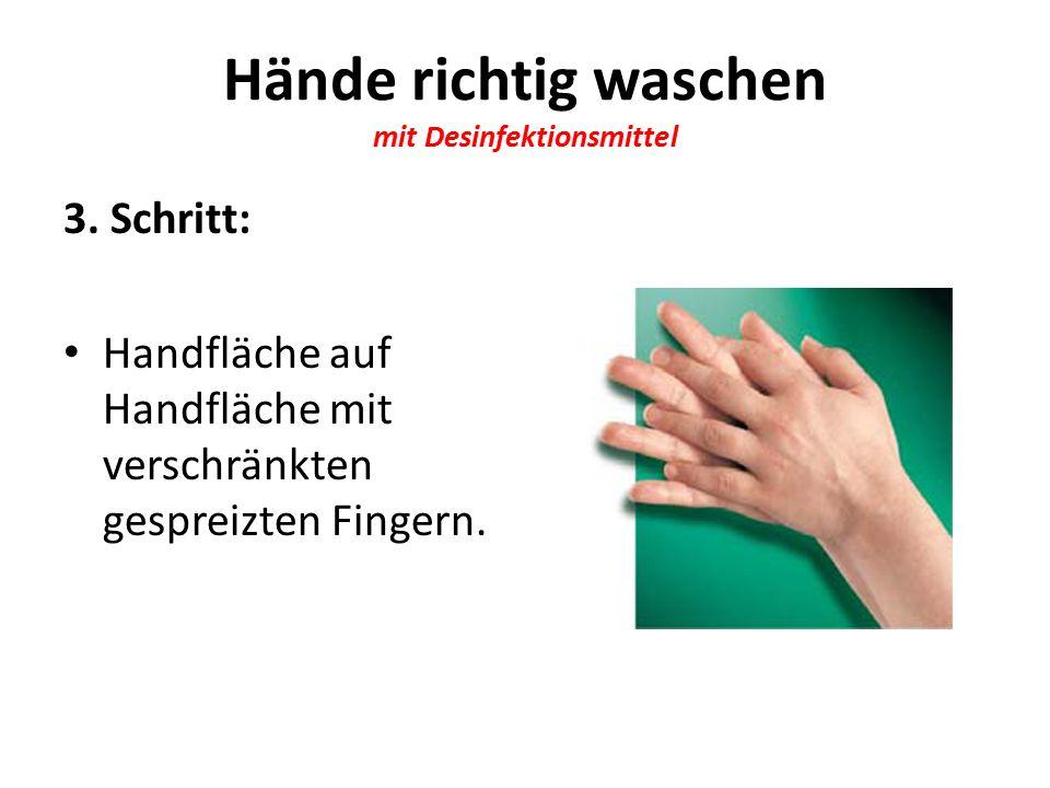 Hände richtig waschen mit Desinfektionsmittel