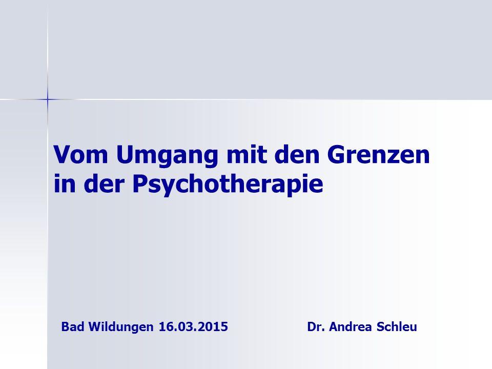 Vom Umgang mit den Grenzen in der Psychotherapie