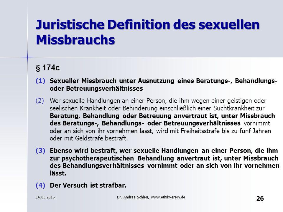 Juristische Definition des sexuellen Missbrauchs