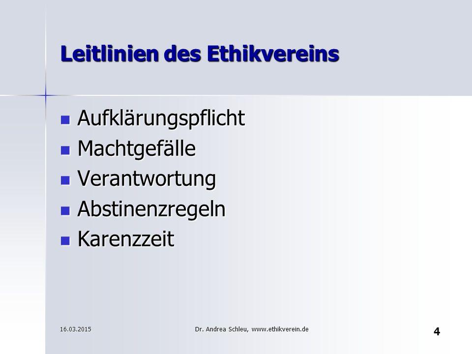 Leitlinien des Ethikvereins