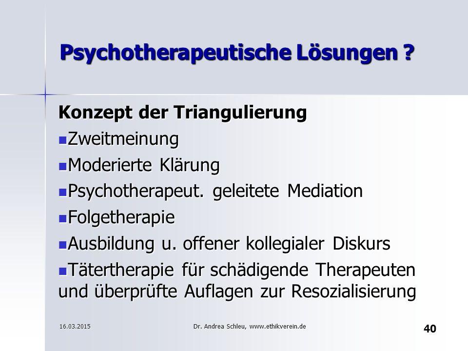 Psychotherapeutische Lösungen