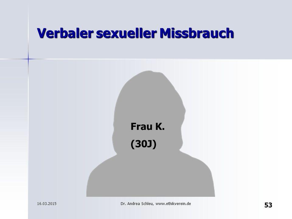 Verbaler sexueller Missbrauch