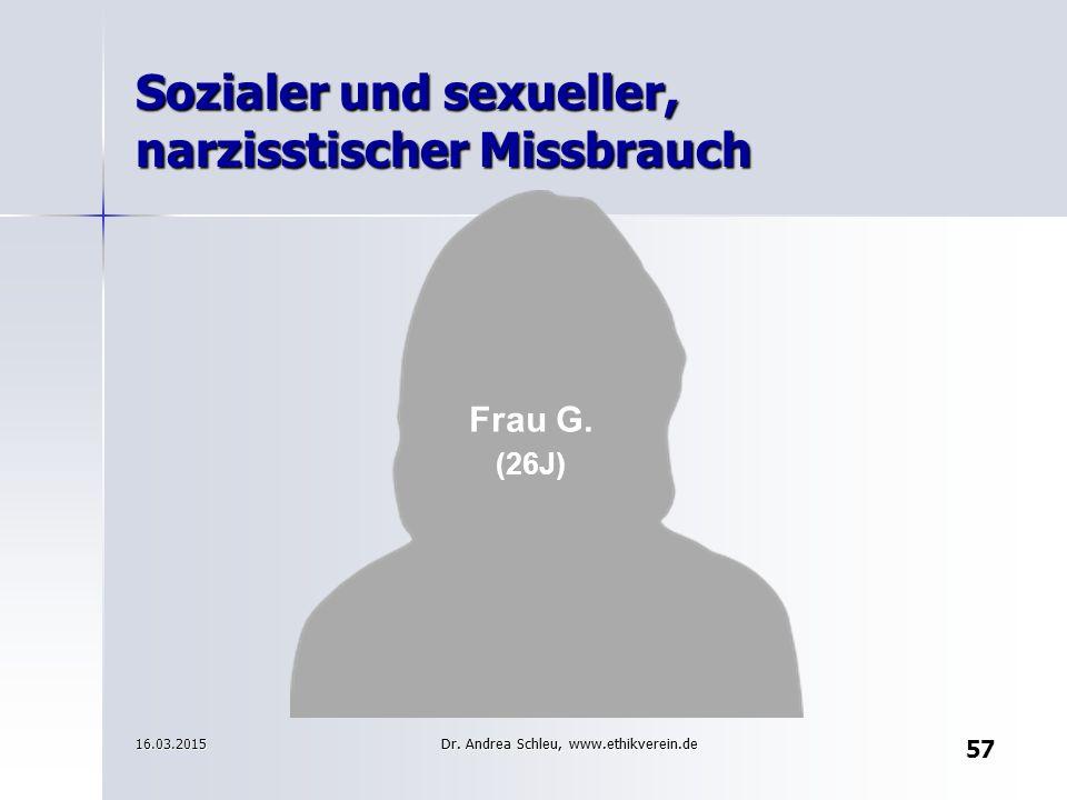 Sozialer und sexueller, narzisstischer Missbrauch