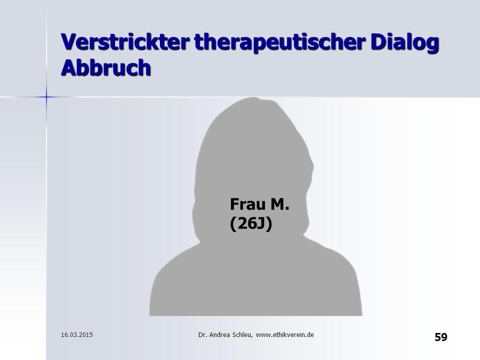Verstrickter therapeutischer Dialog Abbruch
