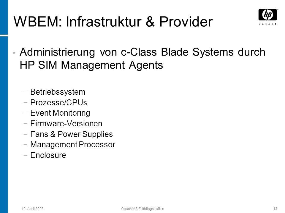 WBEM: Infrastruktur & Provider