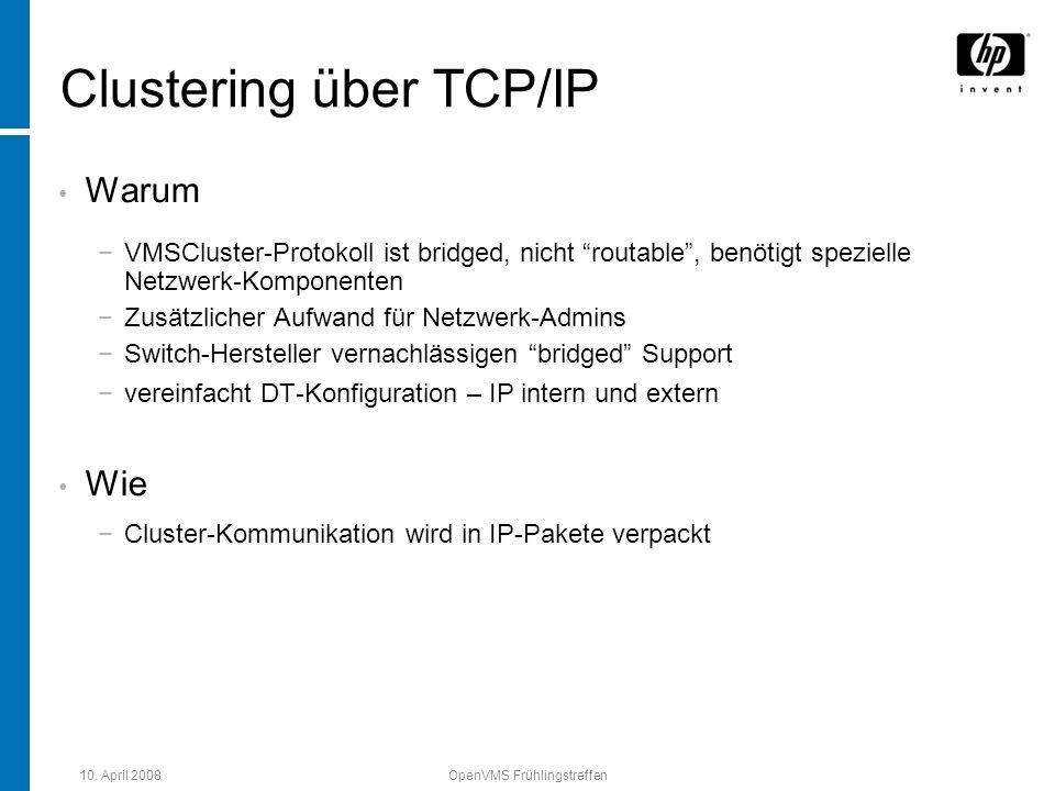 Clustering über TCP/IP