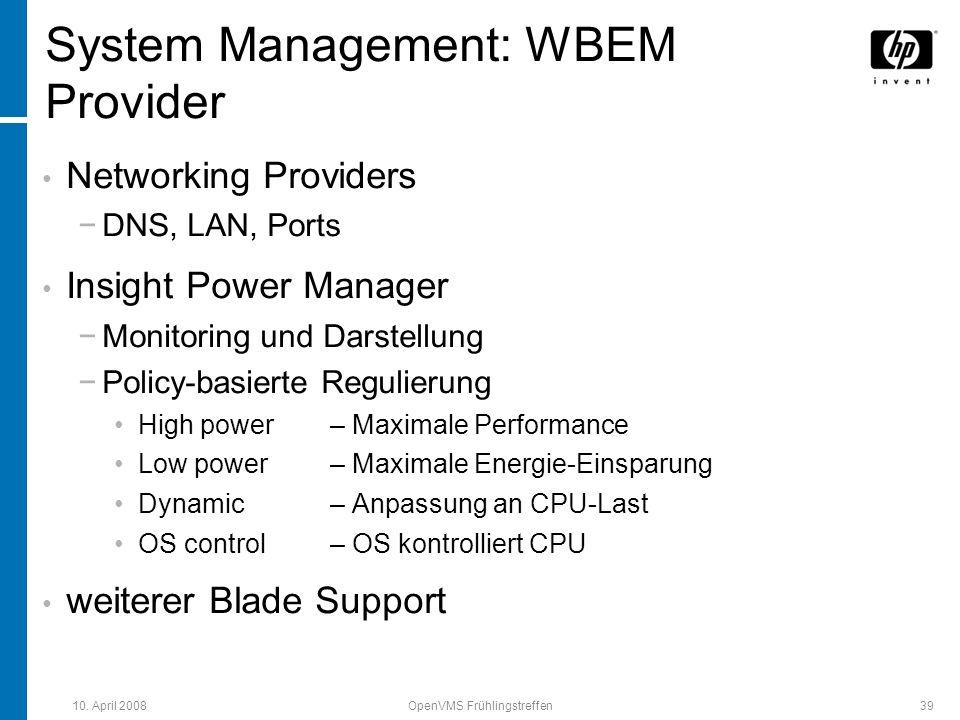System Management: WBEM Provider