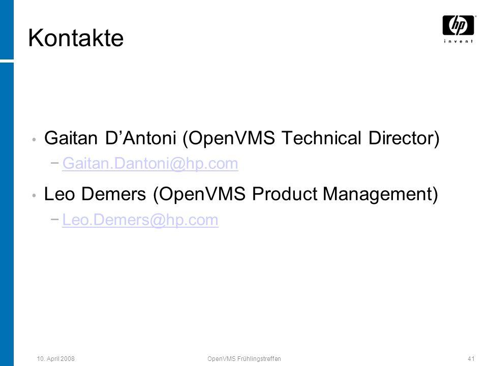 OpenVMS Frühlingstreffen